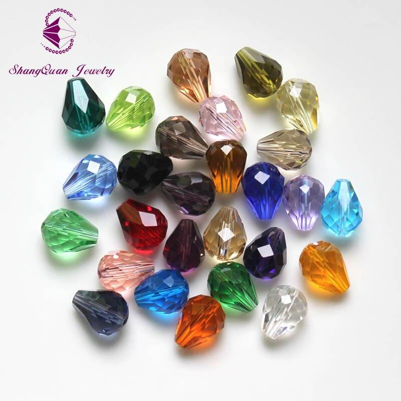 100 шт./лот кристалл слеза падение бусины 10x8 мм смешанные цвета DIY бусины ювелирные изделия ожерелье изготовление класса ААА
