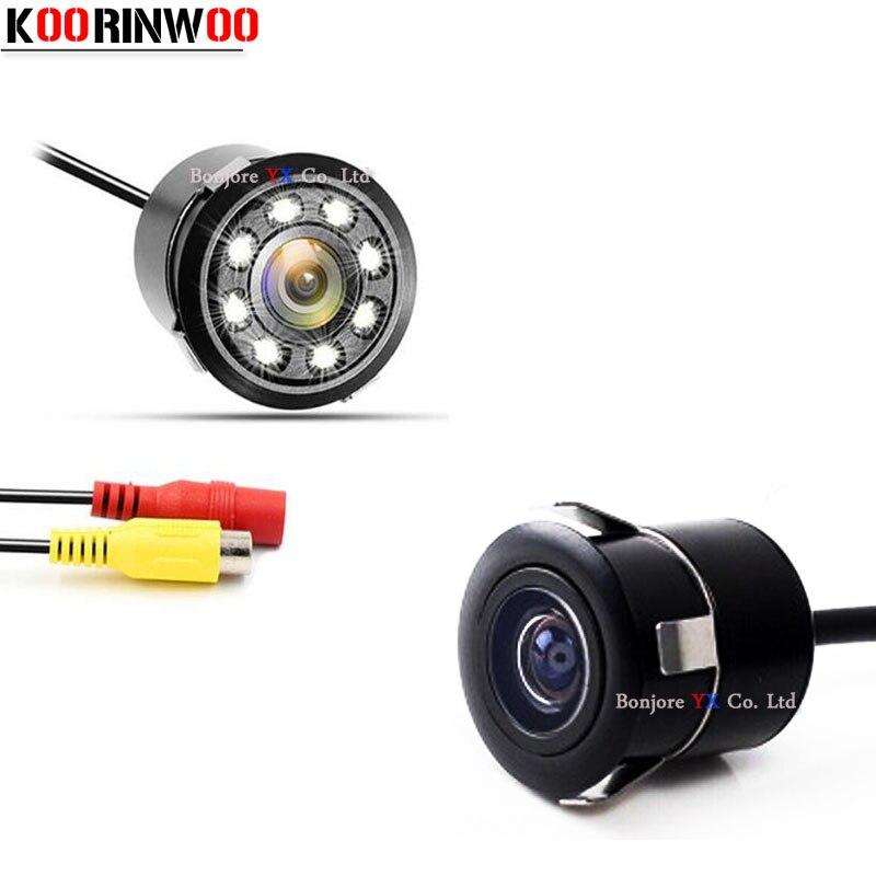 Автомобильная парковочная камера Koorinwoo, фронтальная камера заднего вида, камера заднего вида, видео система, подсветка ночного видения для автомобиля