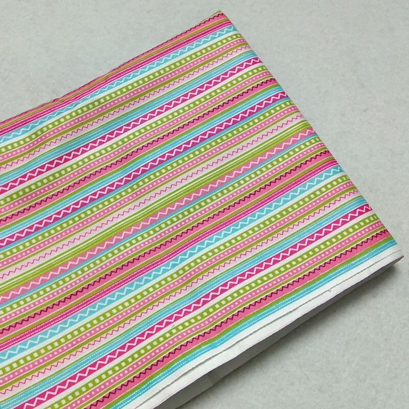 160cm de ancho África Arco Iris colores dibujo de rayas 100% tela de algodón tela africana Patchwork ropa cojín acolchado sábana bebé
