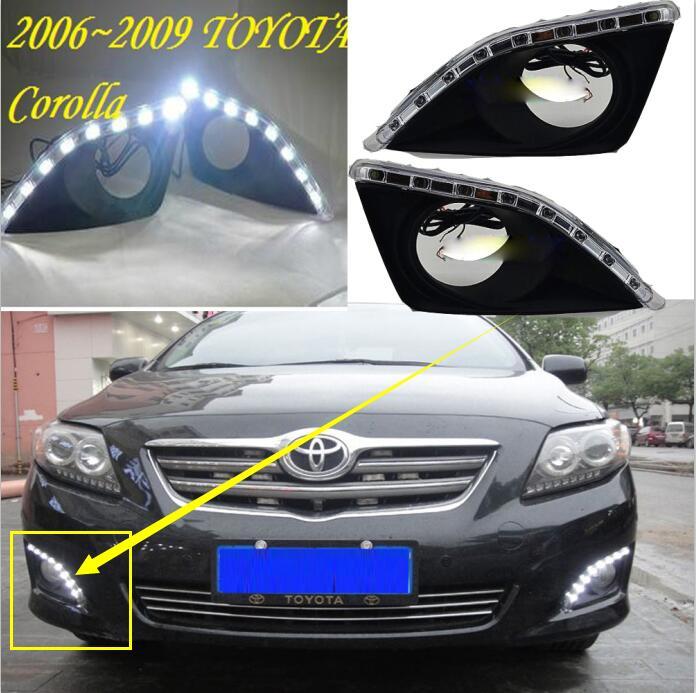 2007 corolla 2010 corolla luz diurna, altis,auris, acessórios do carro, navio livre! led, corolla luz de nevoeiro, estilo do carro, camry,reiz, motocicleta