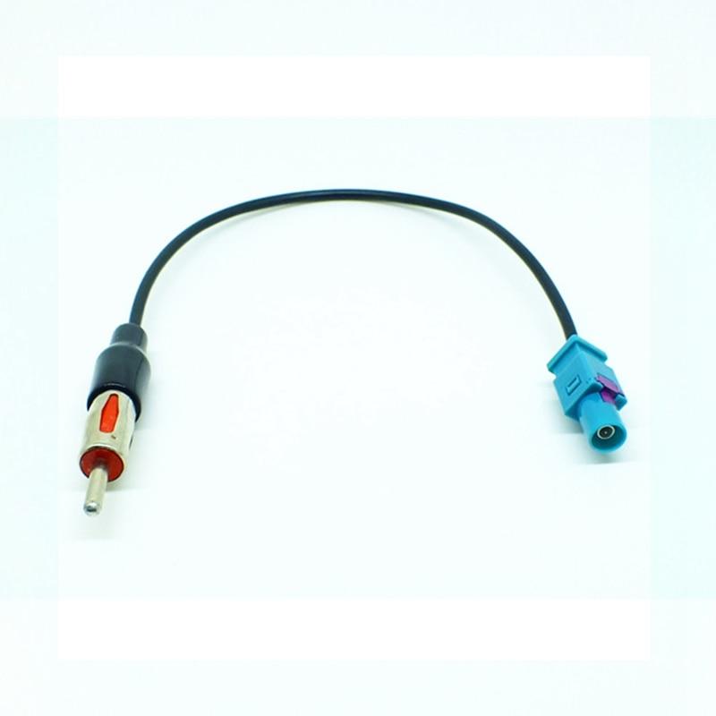 Piezas de antenas para automóviles de 25cm, Antena de Radio de coche, adaptador aéreo GPS, Cable, arnés de cables, convertidor de enchufe para Ford DIN 41585 JASO