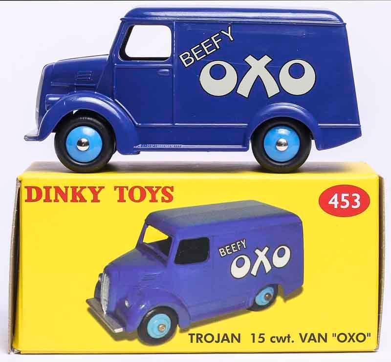 ¡1/43 Atlas Dinky juguetes 453 de 15 cwt! VAN OXO Diecast colección de modelos de coches
