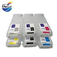 OCINKJET 280ML Empty Refillable Ink Cartridge 6colors For HP 72 For HP T610 T620 T795 T1100 T1120 T1200 T1300 T770 T790