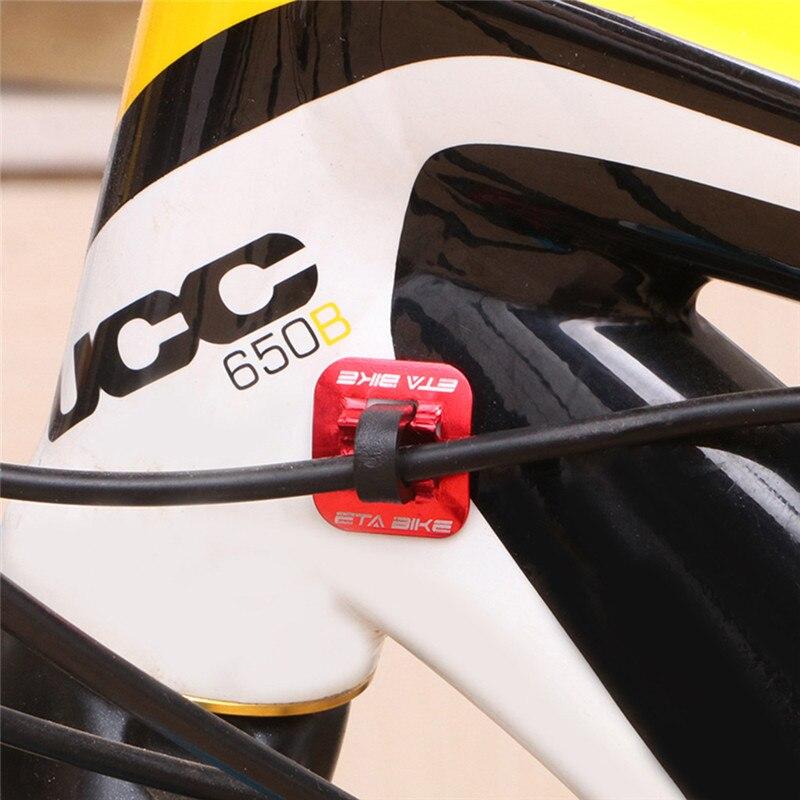 5 pçs de alumínio da bicicleta shifter freio cabo fixação braçadeira assento conversão mtb bicicleta estrada tubo óleo quadro u fivela tubulação clipe guia # a