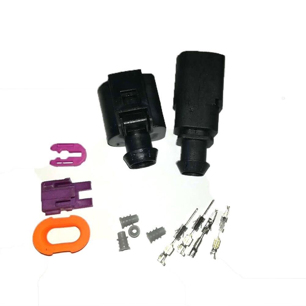 Штепсельная Вилка с двумя контактами 1,5 мм 1J0973802/1J0973702 с автоматическим датчиком температуры, водонепроницаемая штепсельная вилка с клапаном для спуска проводов, 1 комплект