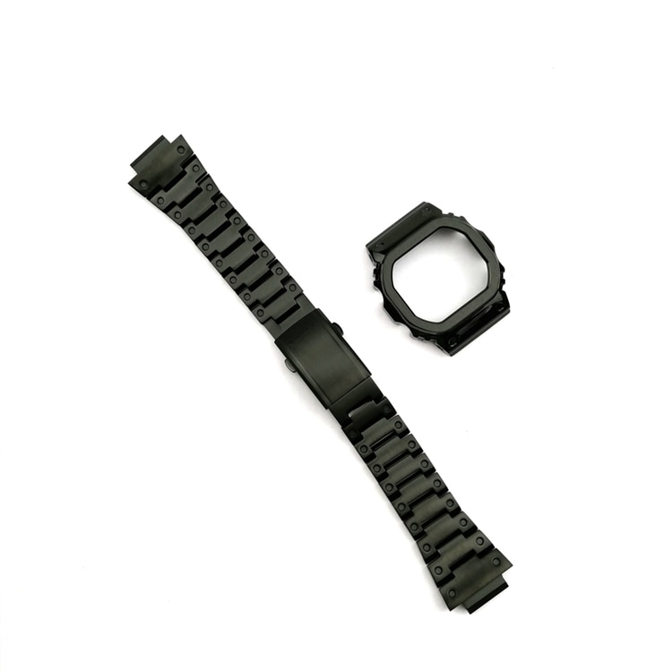 stainless steel watchband solid metal band for DW5600 GW-5000 5035 GW-M5610 watch strap and watch frame bracelet for men enlarge