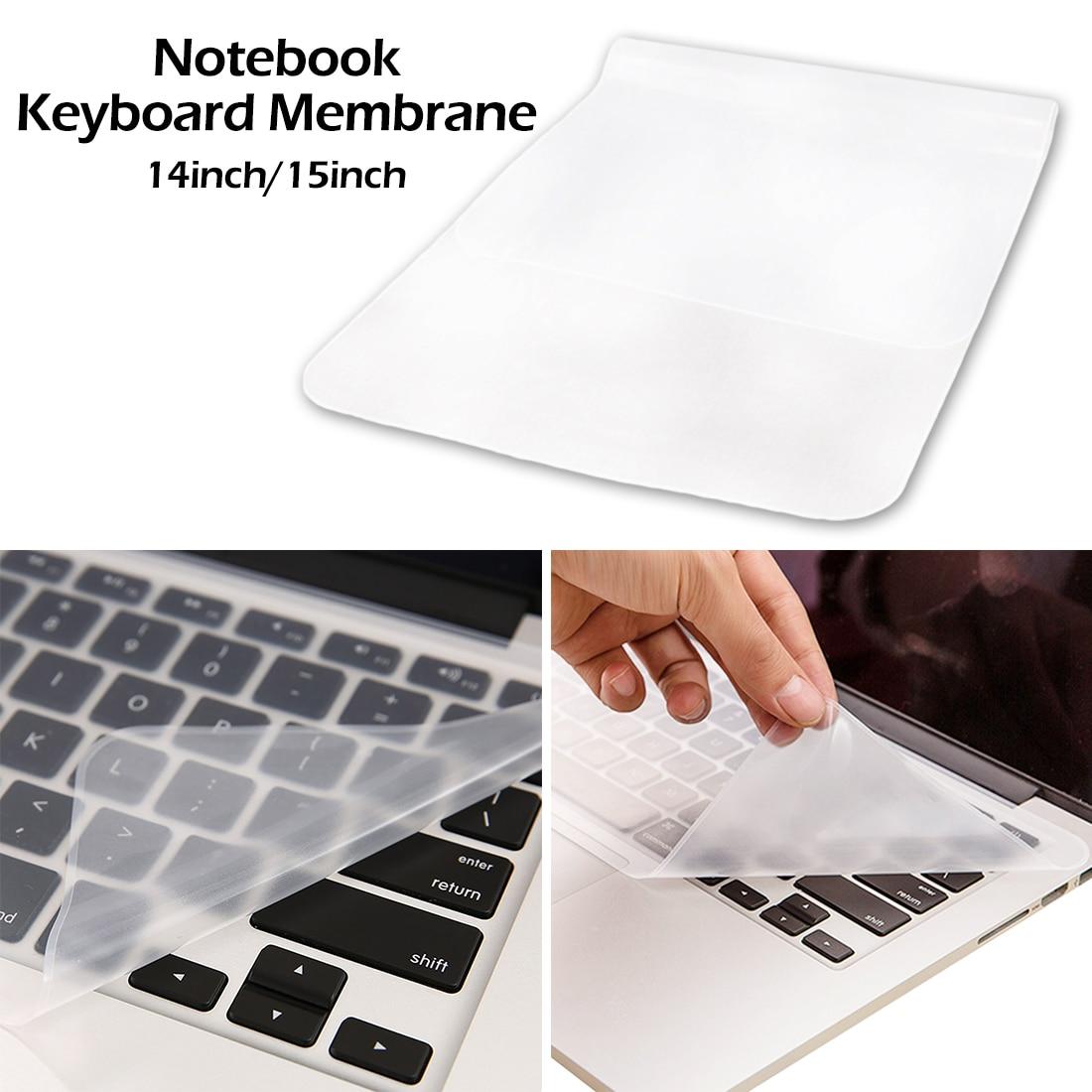 Dustproof transparente ultra-fino silicone teclado capa 14 15 polegada universal silicone teclado protetor filme para computador portátil