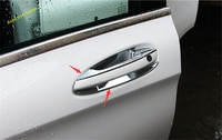 Lapetus Exterior Kit Chrome Door Pull Handle / Bowl Cover Trim For Mercedes Benz GLA X156 200 220 2014 - 2019 ABS