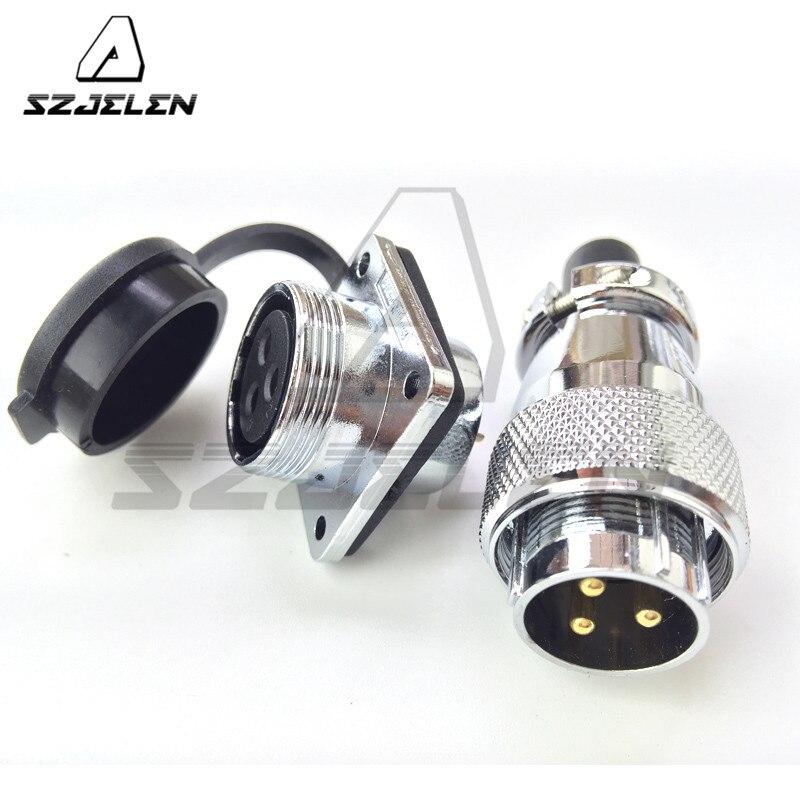 Conector impermeable serie SZJELEN WS20 de 3 pines, conector de alimentación de equipo eléctrico industrial, enchufe de carga automotriz