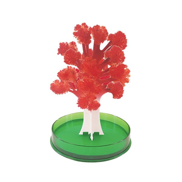 iWish 2019 12x10cm DIY Visual Red Magic Growing Paper Maple Crystals Tree Magical Grow Christmas Trees Kids Toys For Children недорого