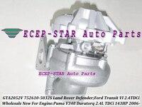 GTA2052VK 752610-0012 752610-0015 752610-0025 YC1Q6K682AE 752610 Turbo For Land Rover Defender Transit 6 Puma Duratorq 2.4L TDCi