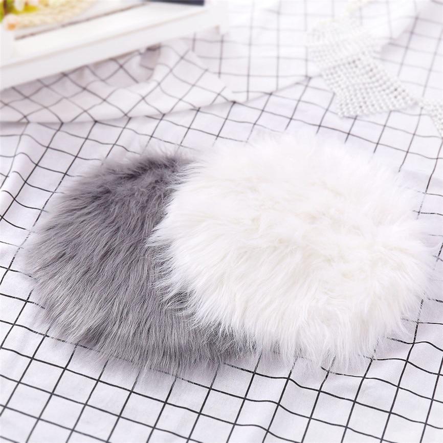 Мягкий искусственный ковер из овчины, покрытие для стула, искусственная шерсть, теплый, пушистый ковер, коврик для сиденья, коврики для дома, enfeite De Natal Nov #3