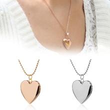 1 adet gümüş/gül altın kalp şeklinde fotoğraf resim çerçevesi madalyon kolye zincir kolye takı hediyeler aksesuarları sevgilisi için arkadaş