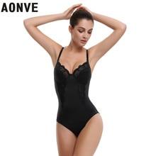 AONVE Black Lace Bra Bodysuit Backless Bralette Modeling Strap bodysuit Butt Under Dress Body Shaperwaer Bodysuits Overbust