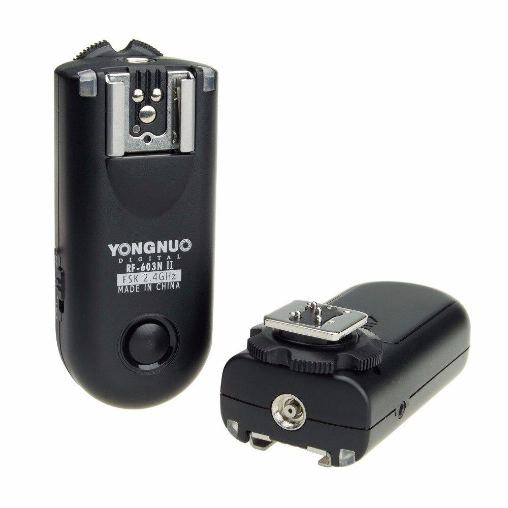 N1 RF603 RF-603 Disparador de Flash Remoto Sem Fio para Nikon D800 D700 D300 D200 D3X