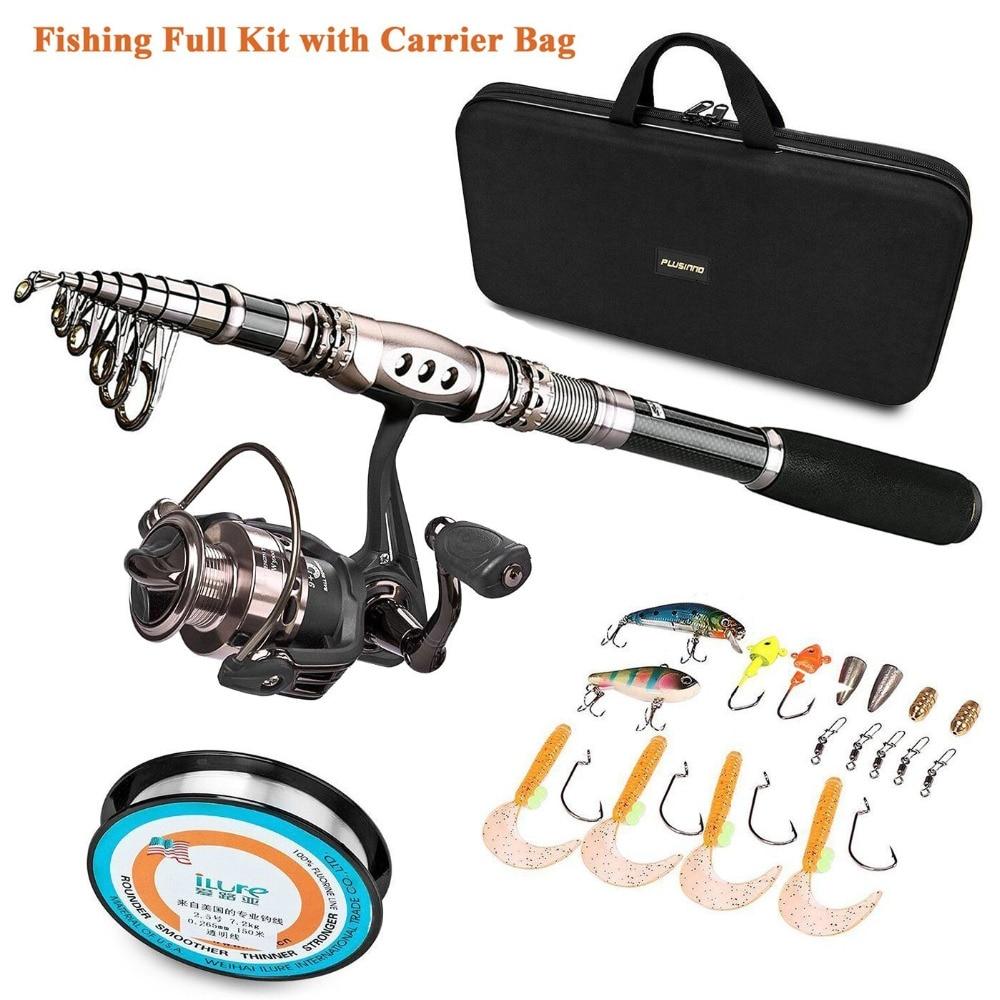 PLUSINNO Telescopic Fishing Rod Retractable Fishing Pole Rod Saltwater Travel Spinning Fishing Rods Fishing Poles enlarge