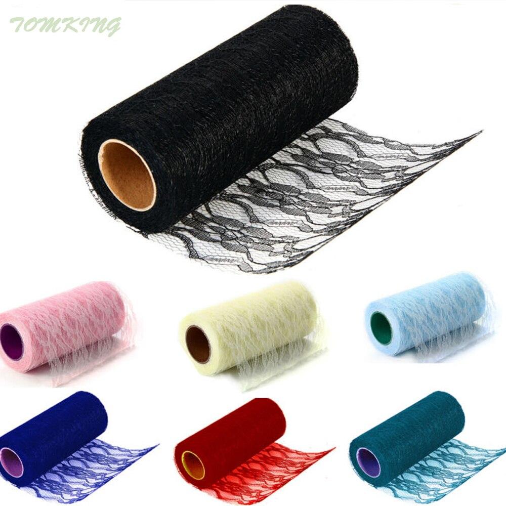 """6 """"x10 YD rollo carrete tela encaje cinta red para DIY boda evento Fiesta hogar Decoración artesanías"""