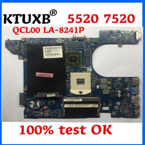QCL00 LA-8241P для Dell Inspiron 15R 7520 5520 материнская плата для ноутбука CN-06D5DG 06D5DG 6D5DG HM77 HD7670 1G 100% тестовая работа