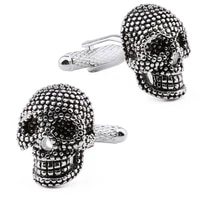 hawson skull cufflinks raised metal dots wiped black skull for french cuffsshirts garment ornaments cuff links for men