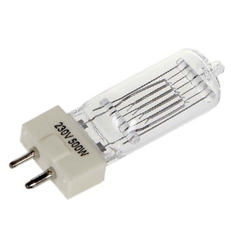 2pcs/lot GY9.5 Continous Lighting Video Studio Fresnel Lamp 500W 3200K 220V Spot Light Tungsten Lamp