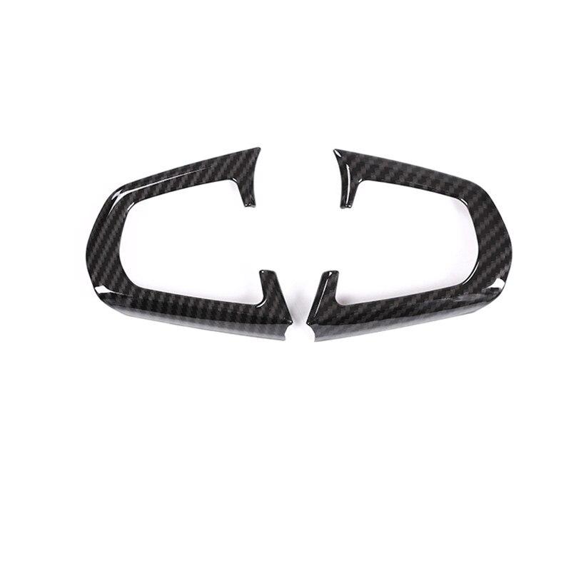 ABS cromado volante Control Central estilo de fibra de carbono cobertura decorativa adhesivo tiras de ajuste para BMW G30 5 Series 2017 2018