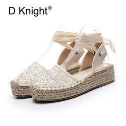 Alpargatas de cunha listrada preta, sandálias femininas, dedo fechado, renda, gladiador, sandália casual feminina, sandália plataforma