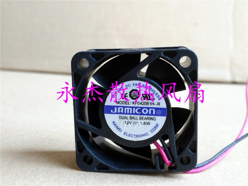 Jamicon KF0420B1H-R ventilador de refrigeración de servidor DC 12V 12V 1,6 W 40x40x20mm 2-de alambre