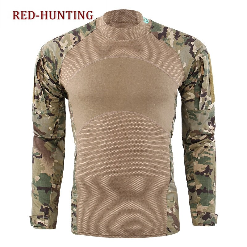 Soldier T-shirts Combat Tactical Long Sleeve T Shirt Fishing Airsoft Hiking Hunting Top