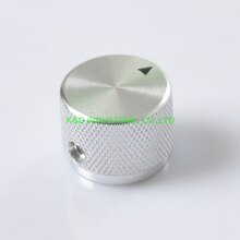 2pcs Sliver Aluminum Potentiometer Control Volume Knobs 20x15.5mm Tube amp Parts Socket