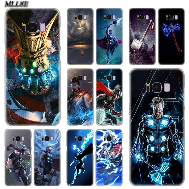 MLLSE Marvel Hero Thor Hot Transparent Hard Case Cover for Samsung Galaxy S10 Lite S9 S8 Plus S7 S6 Edge S5 S4 Mini Cover