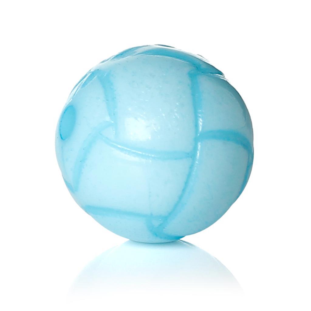 DoreenBeads Acryl Spacer Perlen Fußball Blau Streifen Muster DIY Schmuck Über 14,0mm (4/8 ) Durchmesser, loch: Ca. 2,2mm, 8 PCs