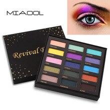 Miaool 15 colores brillo paleta sombra de ojos impermeable de oro púrpura azul polvo sombra de ojos mineral iluminar ahumado sombra de ojos MN103