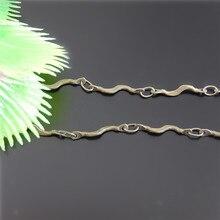 Wholesale Graceangie 1m A Lot Promotion Antique Bronze Plated Waterwave Shape Vintage Retro Style Chain Alloy Rope Chian