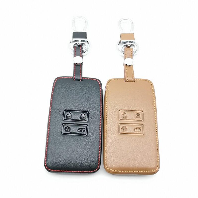 Louvor estilo de couro macio capa chave do carro conjunto para renault captur talismã kadjar koleos clio megane scenic espace 2016-2019