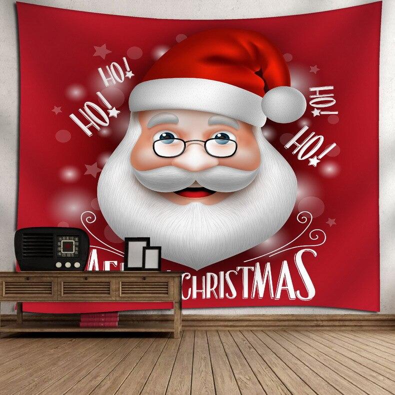 Tapiz temático de Navidad de Papá Noel rojo para colgar en la pared, arte en la pared, estera de Yoga, manta de Picnic, tela de pared para dormitorio o dormitorio