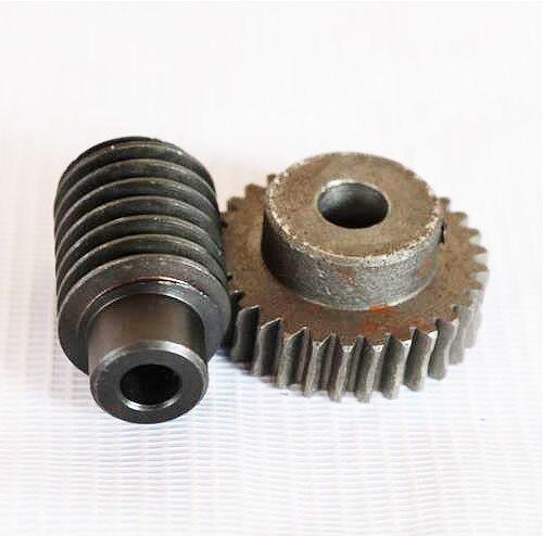 1,25 M-40 T relación de reducción 140 acero engranaje de tornillo sin fin reductor piezas de transmisión-agujero del engranaje 10mm agujero de la varilla 10mm