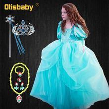 Robe fantaisie petite sirène pour filles   Vêtements princesse Jasmine, pour fête danniversaire, bal, emmêlé raiponce, pour enfants, nouvelle collection