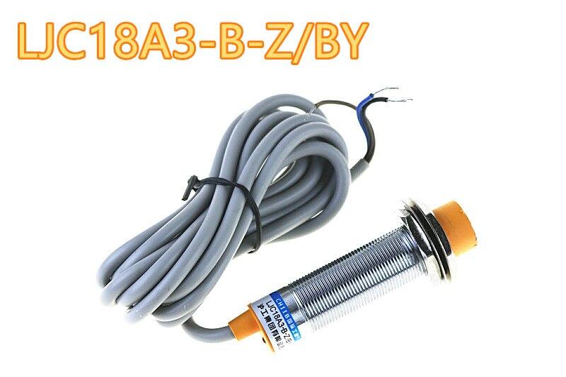 LJC18A3-B-Z/BY - M18 Three Wire DC 6-36V PNP NO 1-10mm distance measuring capacitive proximity switch sensor
