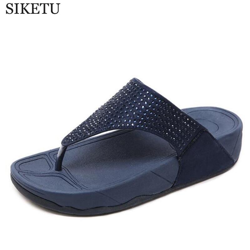 AliExpress - Rhinestone Women Slippers Flip Flops Summer Women Crystal Diamond Bling Beach Slides Sandals Casual Shoes  platform Woman shoes