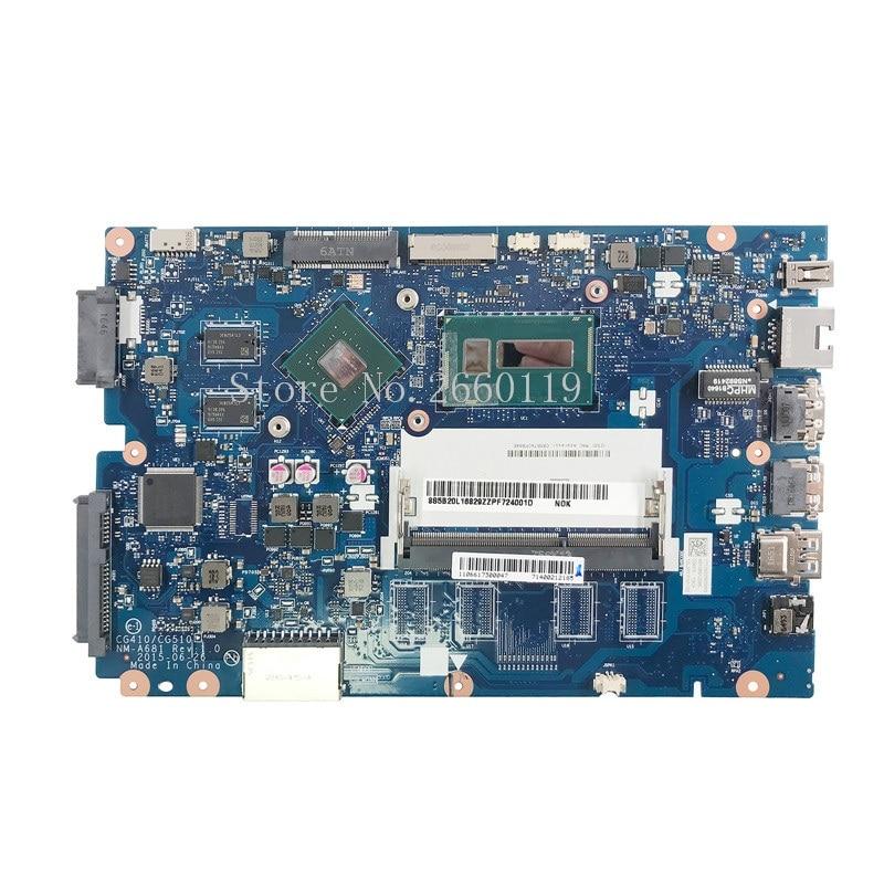 La placa base de computadora portátil para 100-14IBD 100-14IBY 100-15IBY NM-A681 5B20L16829 i5-5200U 2G totalmente probado