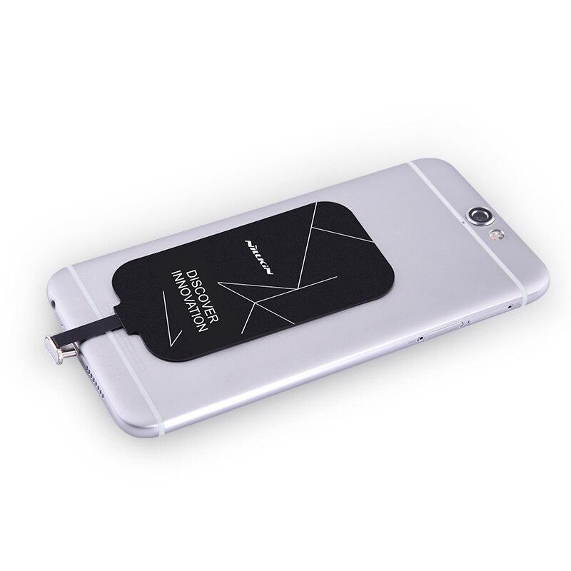 Универсальный приемник Qi Nillkin Magic tag, беспроводной приемник для зарядки, катушка, рецептор, USB адаптер, порт TYPE-C, микро порт