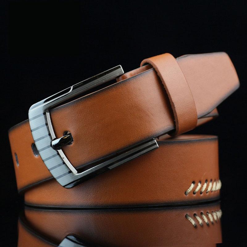 KAWEIDA 2018 New Trend Vintage Mens Genuine Leather Belt Casual Pin Buckle Street Style Student Trouser Belt Ceinture Homme