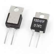 2Pcs KSD-01F H75C 75C N.C Normal Closed Temperature Control Switch Thermostat