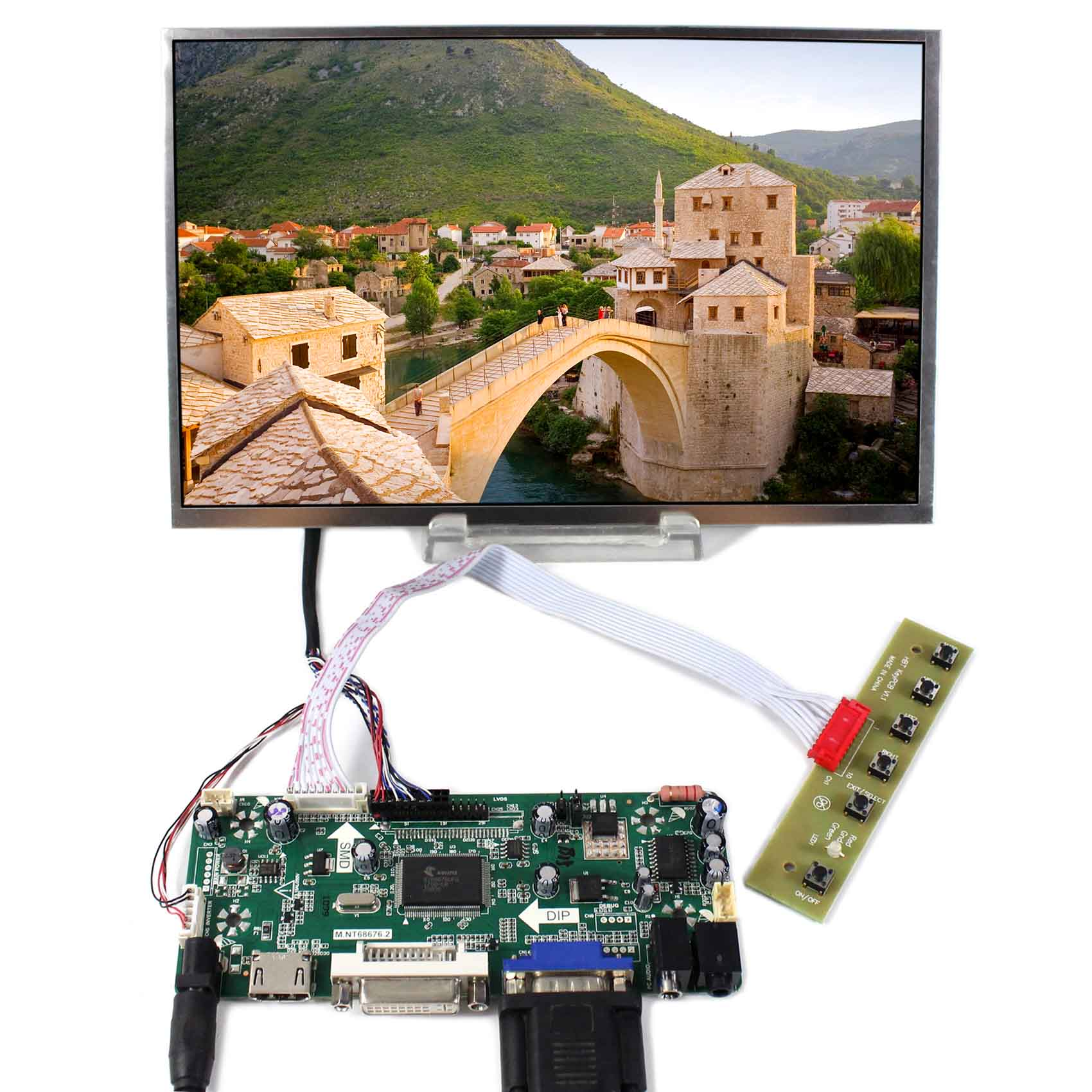 10.1inch B101EW05 1280x800 LCD Screen Wiht HDMI VGA DVI AUDIO LCD Controller Board