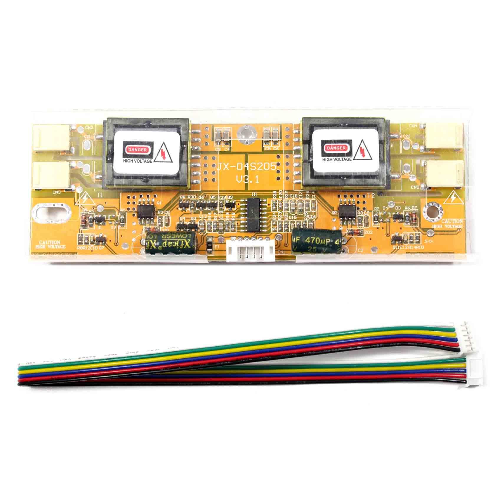 4 placa do inversor da lâmpada ccfl para a tela lcd do backlight de 4 ccfl