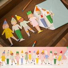 Carte dinvitation cadeau pour anniversaire enfants   Mignon, pliable à la main en 3D, carte de vœux, carte postale merci, décoration de fête danniversaire pour enfants