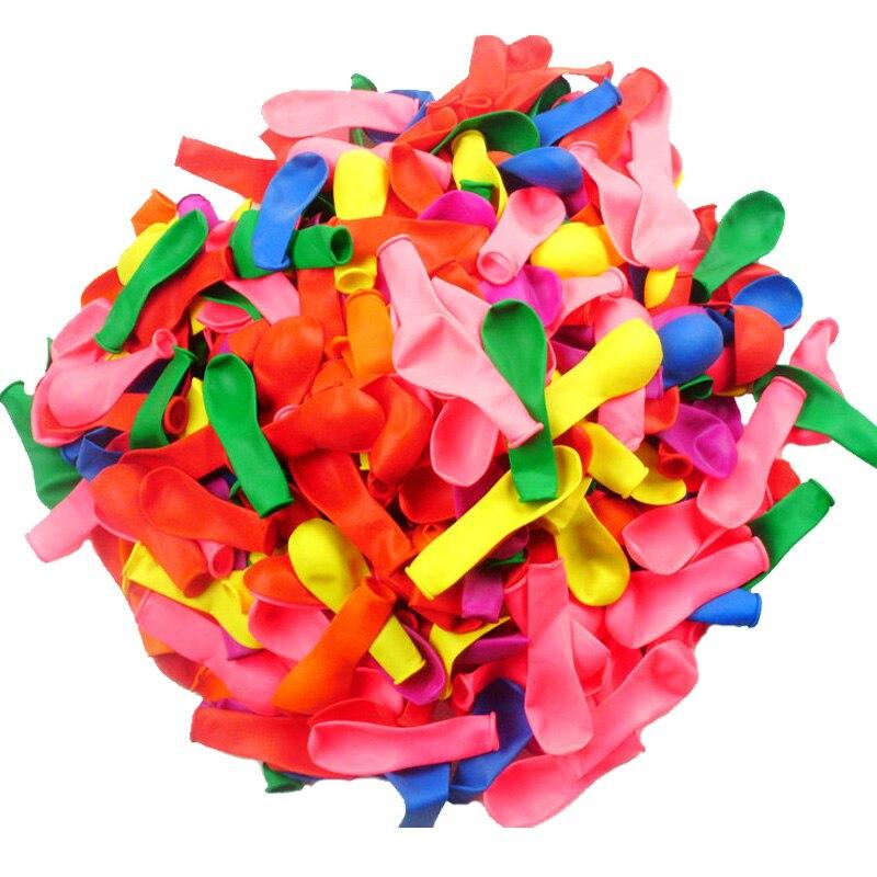 500 pièces Ballons jeu de tir Latex ballon petit été bombe à eau balles couleur mixte en plein air fête de mariage Ballons décoratifs