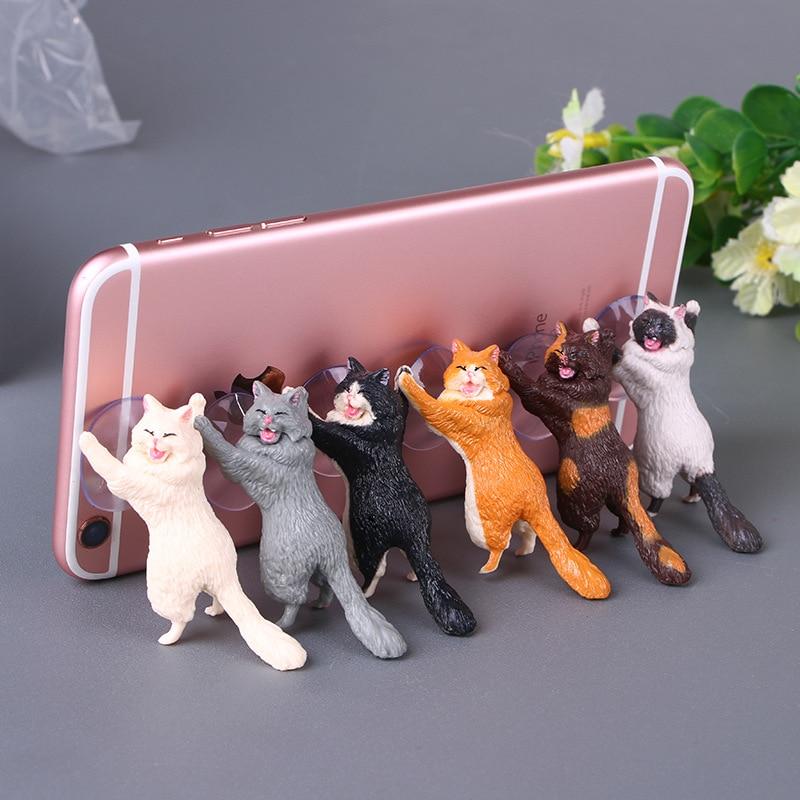 Modelo de gato Dink, soporte para coche con ventosa Diy, accesorios creativos, figuras de acción de juguete para niños adultos, lindas muñecas de animales de dibujos animados