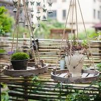 hang rope shelfrope shelves window plant hangers