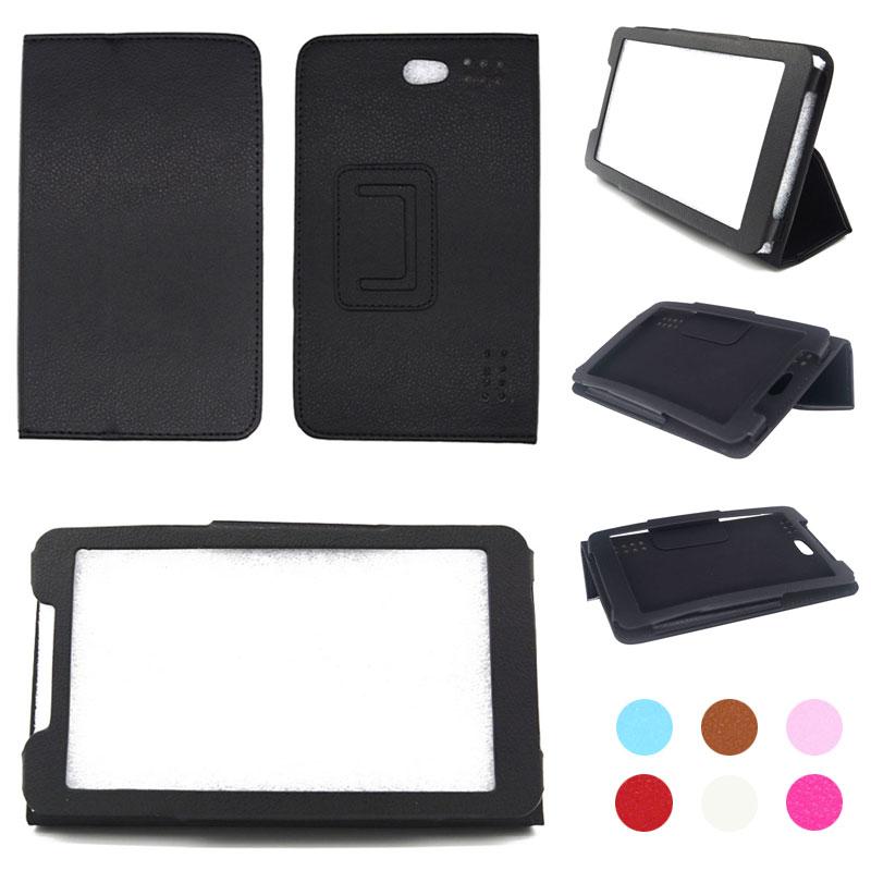 Para Karbonn Inteligente Tab 72 7 polegada Tablet PU Couro Folding Folio Stand Case Capa + Stylus Pen + Tela protetor Filme